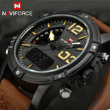 NAVIFORCE Watches Men Luxury Brand Quartz Analog Digital Leather Clock Man Sports Watches Army Military Watch Relogio Masculino-ASTROSHADEZ.COM-ASTROSHADEZ.COM