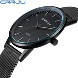 CRRJU Top Watches Men Luxury Brand Casual Stainless Steel Sports Watches Japan Quartz Unisex WristWatches For Men Military Watch-ASTROSHADEZ.COM-ASTROSHADEZ.COM