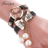 Duoya Brand Watch Women Fashion Butterfly Bow Pearl Casual Leather Bracelet Wristwatch Women Dress Cheap Electronics Watch XR533-ASTROSHADEZ.COM-ASTROSHADEZ.COM