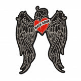 WITH LOVE WINGS HEART MC MOTORCYCLE BIKE IRON PATCH LARGE-ASTROSHADEZ.COM-ASTROSHADEZ.COM