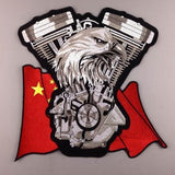 CHINA FLAG EAGLE MC MOTORCYCLE BIKE IRON PATCH LARGE-ASTROSHADEZ.COM-ASTROSHADEZ.COM