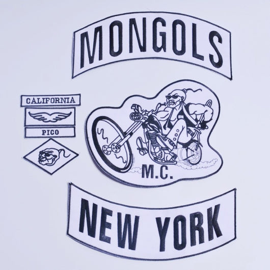 MONGOLS NEW YORK MC Biker Patch Set SEW On Vest Jacket-ASTROSHADEZ.COM-ASTROSHADEZ.COM