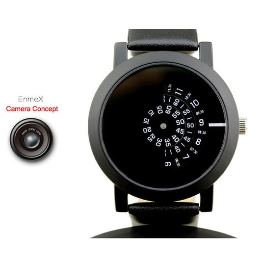 2017 Enmex creative design wristwatch camera concept brief simple design special digital discs hands fashion quartz watches-ASTROSHADEZ.COM-ASTROSHADEZ.COM