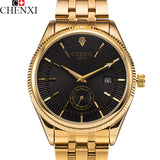 2017 CHENXI Calendar Gold Quartz Watch Men Clock Top Brand Luxury Wrist Watches Golden Hodinky Relogio Masculino quartz-watch-ASTROSHADEZ.COM-ASTROSHADEZ.COM