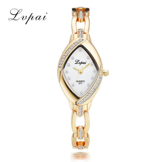 Lvpai High Quality Bangle Watch Thin Oval Rhombus Gold Rhinestone Watch Women Crystal Clock Ladies Wrist Watches Dress Quartz-ASTROSHADEZ.COM-ASTROSHADEZ.COM