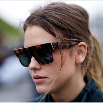 Womens 'Saint' Oversized Square Browline Sunglasses Astroshadez-ASTROSHADEZ.COM-ASTROSHADEZ.COM