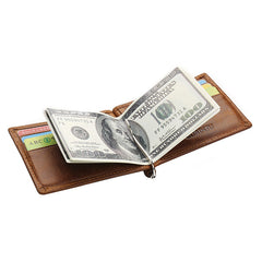 Mens Cowhide Genuine Leather Bifold Purse Billfold Wallet Money Clip-ASTROSHADEZ.COM-ASTROSHADEZ.COM