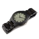 Mens Black Wood Bamboo Round Circle Analog Mechanical Military Watch-ASTROSHADEZ.COM-ASTROSHADEZ.COM