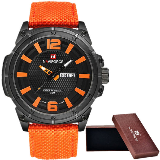 NAVIFORCE 2016 Mens Luxury Watch Military Watch Men Quartz wristWatch Sports Date Clock Brand Men Casual Nylon Watch 9066-ASTROSHADEZ.COM-ASTROSHADEZ.COM