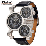 Mens Watches Top Brand Luxury Famous Tag Mens Military Watch 3 Time Zone Waterproof Men Clock Leather Quartz Watch Man-ASTROSHADEZ.COM-Black-ASTROSHADEZ.COM