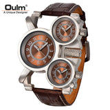 Mens Watches Top Brand Luxury Famous Tag Mens Military Watch 3 Time Zone Waterproof Men Clock Leather Quartz Watch Man-ASTROSHADEZ.COM-Brown-ASTROSHADEZ.COM