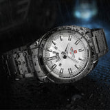 NAVIFORCE Top Luxury Brand Men Sports Watches Mens Quartz Clock Man Stainless Steel Army Military Wrist Watch Relogio Masculino-ASTROSHADEZ.COM-Black White-ASTROSHADEZ.COM