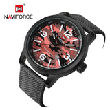2016 New Luxury Top Brand NAVIFORCE Men Army Military Watches Mens Sports Quartz Clock Waterproof Wrist Watch Relogio Masculino-ASTROSHADEZ.COM-Red-ASTROSHADEZ.COM