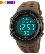 SKMEI Mens Watches Luxury Sport Army Outdoor 50m Waterproof Digital Watch Military Casual Men Wristwatches Relogio Masculino-ASTROSHADEZ.COM-Brown-ASTROSHADEZ.COM