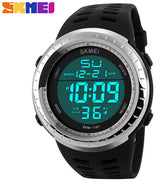 SKMEI Mens Watches Luxury Sport Army Outdoor 50m Waterproof Digital Watch Military Casual Men Wristwatches Relogio Masculino-ASTROSHADEZ.COM-Silver-ASTROSHADEZ.COM