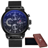 2016 Mens NAVIFORCE Luxury Brand Analog Quartz Watch Man 3ATM Waterproof Fashion Casual Sport Watches Men full steel Wristwatch-ASTROSHADEZ.COM-gray-ASTROSHADEZ.COM