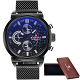 2016 Mens NAVIFORCE Luxury Brand Analog Quartz Watch Man 3ATM Waterproof Fashion Casual Sport Watches Men full steel Wristwatch-ASTROSHADEZ.COM-white-ASTROSHADEZ.COM