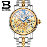 Switzerland BINGER Luxury Gold Automatic Watches Skeleton Fashion Watch Men Mechanical Wristwatch Full Steel relogio masculino-ASTROSHADEZ.COM-Men watch 02-ASTROSHADEZ.COM