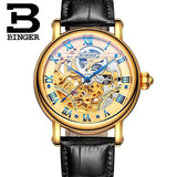 Switzerland BINGER Luxury Gold Automatic Watches Skeleton Fashion Watch Men Mechanical Wristwatch Full Steel relogio masculino-ASTROSHADEZ.COM-Men watch 04-ASTROSHADEZ.COM