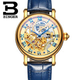 Switzerland BINGER Luxury Gold Automatic Watches Skeleton Fashion Watch Men Mechanical Wristwatch Full Steel relogio masculino-ASTROSHADEZ.COM-Men watch 05-ASTROSHADEZ.COM