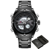 2017 NEW FASHION Luxury Brand NAVIFORCE Men Sports Watches Mens Quartz Digital Clock Male Military Waterproof Full Steel Watch-ASTROSHADEZ.COM-Black Gray-ASTROSHADEZ.COM