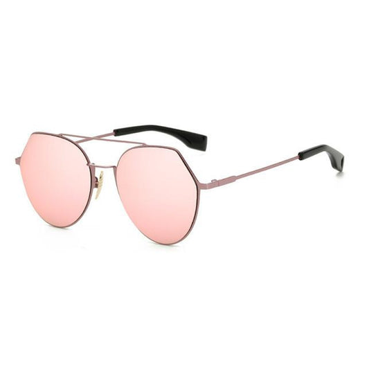 eb127845eb COM  Womens  Queen Bee  Flat Lens Circle Wire Browline Sunglasses  Astroshadez-ASTROSHADEZ.