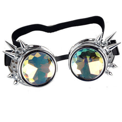 Unisex Kaleidoscope Steampunk Goggles with Spikes