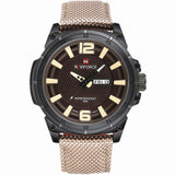 NAVIFORCE 2016 Mens Luxury Watch Military Watch Men Quartz wristWatch Sports Date Clock Brand Men Casual Nylon Watch 9066-ASTROSHADEZ.COM-beige B-ASTROSHADEZ.COM