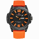 NAVIFORCE 2016 Mens Luxury Watch Military Watch Men Quartz wristWatch Sports Date Clock Brand Men Casual Nylon Watch 9066-ASTROSHADEZ.COM-orange B-ASTROSHADEZ.COM