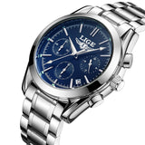 LIGE Top Luxury Brand Men Military Sport Watches Mens Quartz Clock Male Full Steel Casual Business WristWatch Relogio Masculion-ASTROSHADEZ.COM-silver blue-ASTROSHADEZ.COM