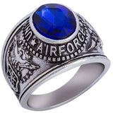 US ARMY NAVY MARINES VETERAN USMC AIRFORCE USN Stainless Steel Silver Gold Ring Mens-ASTROSHADEZ.COM-7-Airforce-ASTROSHADEZ.COM