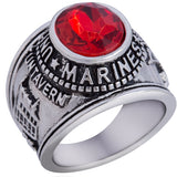 US ARMY NAVY MARINES VETERAN USMC AIRFORCE USN Stainless Steel Silver Gold Ring Mens-ASTROSHADEZ.COM-7-Marines-ASTROSHADEZ.COM