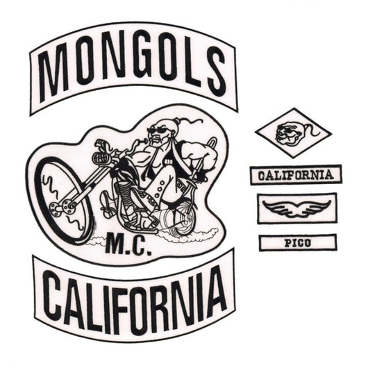 MONGOLS CALIFORNIA MC Biker Patch Set Iron On Vest Jacket Rocker-ASTROSHADEZ.COM-ASTROSHADEZ.COM