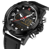 NAVIFORCE Luxury Brand Men Analog Digital Leather Sports Watches Mens Army Military Watch Man Quartz Clock Relogio Masculino-ASTROSHADEZ.COM-Black-ASTROSHADEZ.COM