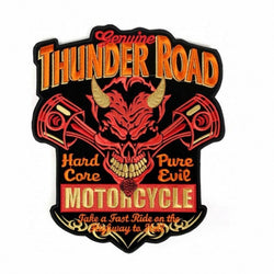 THUNDER ROAD DEVIL MC MOTORCYCLE BIKE IRON PATCH LARGE-ASTROSHADEZ.COM-ASTROSHADEZ.COM