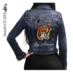 POR AMOUR MC MOTORCYCLE BIKE IRON PATCH LARGE LION TIGER-ASTROSHADEZ.COM-ASTROSHADEZ.COM