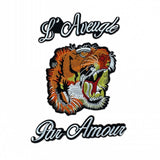 POR AMOUR MC MOTORCYCLE BIKE IRON PATCH LARGE LION TIGER-ASTROSHADEZ.COM-A Set-ASTROSHADEZ.COM