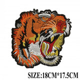 POR AMOUR MC MOTORCYCLE BIKE IRON PATCH LARGE LION TIGER-ASTROSHADEZ.COM-Tiger Head-ASTROSHADEZ.COM