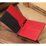 Genuine Leather Men Money Clip Wallet Luxury Famous Designer Short Wallet Clutch High Quality Purse Best Gift - BID096 PM49-ASTROSHADEZ.COM-Red-ASTROSHADEZ.COM