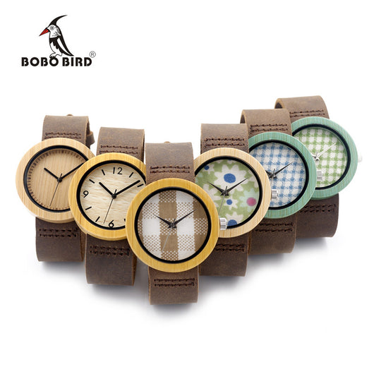 BOBO BIRD D18/1-6 Wooden Bamboo Watch with Genuine Brown Leather Strap Quartz Analog High Quality Miyota Movement With Gift Box-ASTROSHADEZ.COM-ASTROSHADEZ.COM