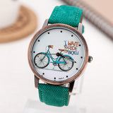 2017 Fashion Brand Quartz Watches Bicycle Pattern Cartoon Watch Women Casual Vintage Leather Girls Kids Wristwatches gifts Clock-ASTROSHADEZ.COM-ASTROSHADEZ.COM