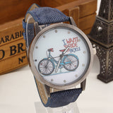 2017 Fashion Brand Quartz Watches Bicycle Pattern Cartoon Watch Women Casual Vintage Leather Girls Kids Wristwatches gifts Clock-ASTROSHADEZ.COM-Blue-ASTROSHADEZ.COM