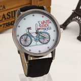 2017 Fashion Brand Quartz Watches Bicycle Pattern Cartoon Watch Women Casual Vintage Leather Girls Kids Wristwatches gifts Clock-ASTROSHADEZ.COM-Black-ASTROSHADEZ.COM