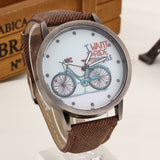 2017 Fashion Brand Quartz Watches Bicycle Pattern Cartoon Watch Women Casual Vintage Leather Girls Kids Wristwatches gifts Clock-ASTROSHADEZ.COM-Brown-ASTROSHADEZ.COM