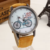2017 Fashion Brand Quartz Watches Bicycle Pattern Cartoon Watch Women Casual Vintage Leather Girls Kids Wristwatches gifts Clock-ASTROSHADEZ.COM-Yellow-ASTROSHADEZ.COM