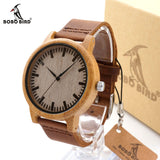 BOBO BIRD A16 Watch for Men Women Bamboo Wood Quartz Watches With Scale Soft Leather Straps relojes mujer marca de lujo 2017-ASTROSHADEZ.COM-ASTROSHADEZ.COM