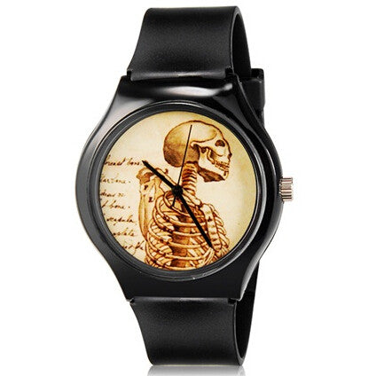 new fashion Willis Mini 5166 women fashion watch Skull Pattern Design Water Resistant Analog Wrist Watch-ASTROSHADEZ.COM-ASTROSHADEZ.COM