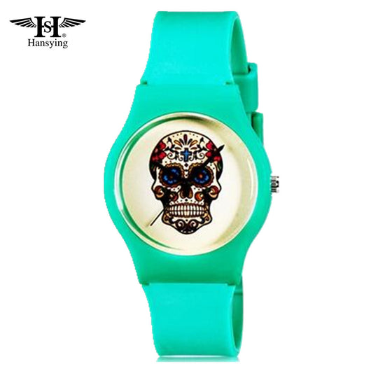 Hansying Mini Student's Kid's Women Fashion Skull Pattern Analog Quartz Wrist Watch