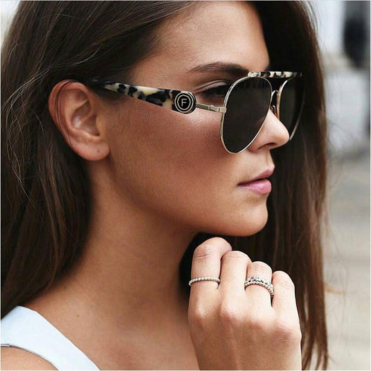 Womens 'French' Oversized Aviator Style Sunglasses Astroshadez