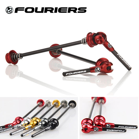 Fouriers MTB Road Bike Bicycle Quick Release Titanium Axel With Carbon Lever Skewers-ASTROSHADEZ.COM-ASTROSHADEZ.COM